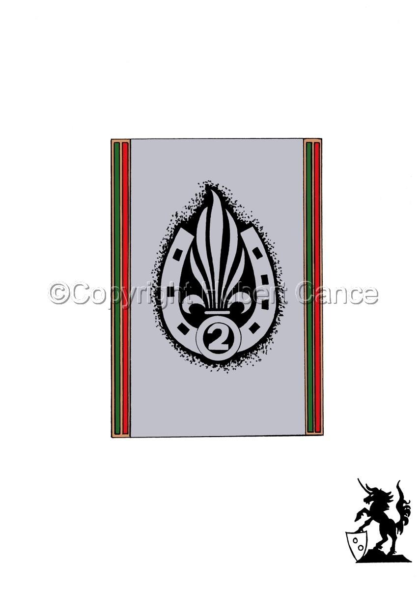Sticker: 2eme REI insignia (large view)