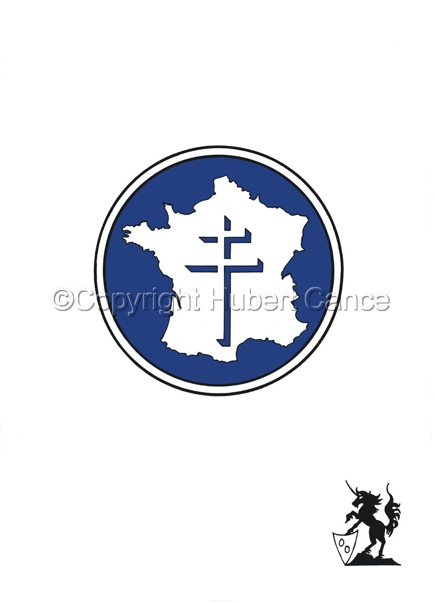 Sticker: 2ème DB Insignia (large view)