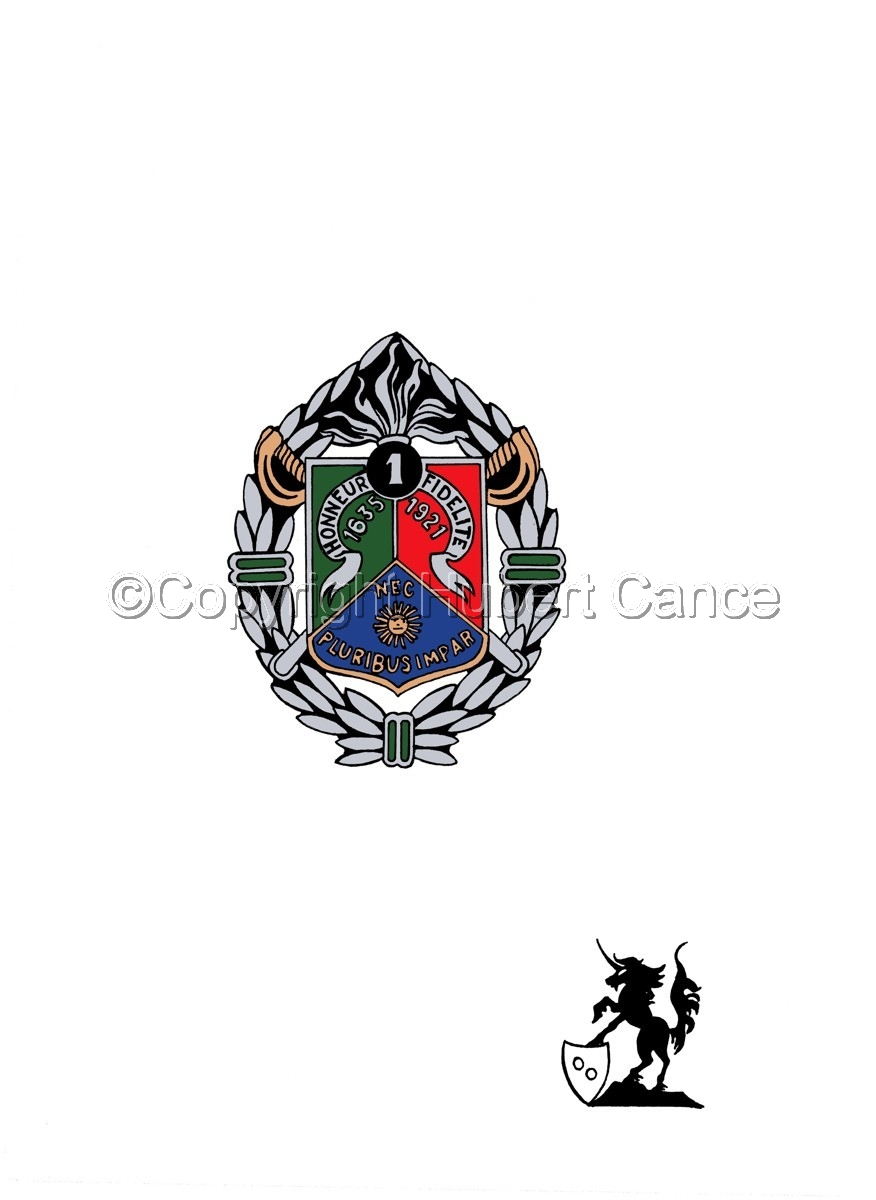 Sticker: 1er REC insignia (large view)