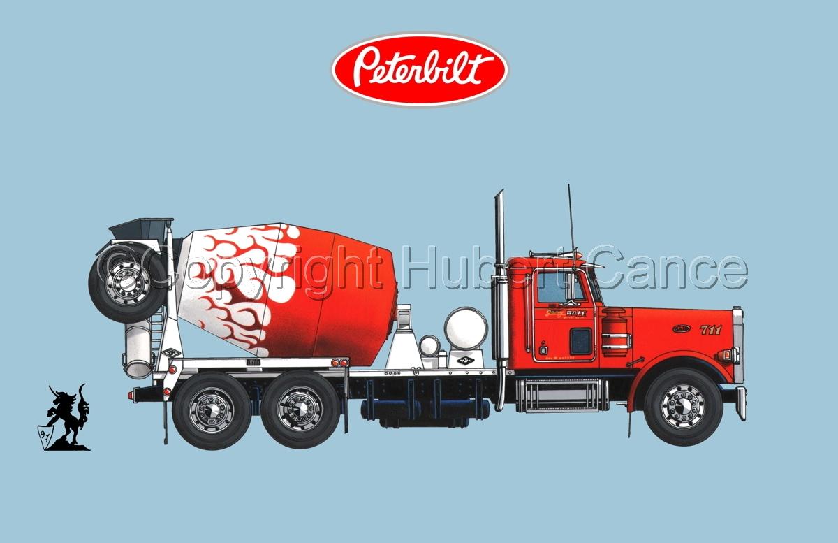 Peterbilt 357 Mixer (Logo #1.2) (large view)