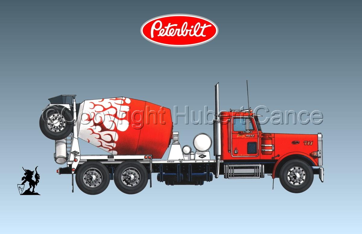 Peterbilt 357 Mixer (Logo #1.3) (large view)