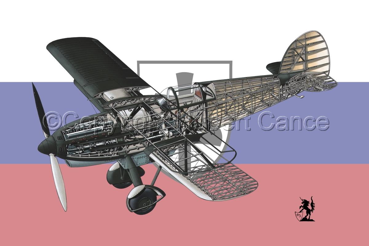 Avia B-534N (Flag #3) (large view)