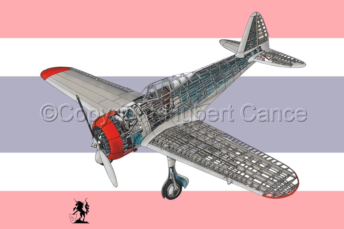 "Nakajima Ki.27 ""Nate"" (Flag #8) (large view)"