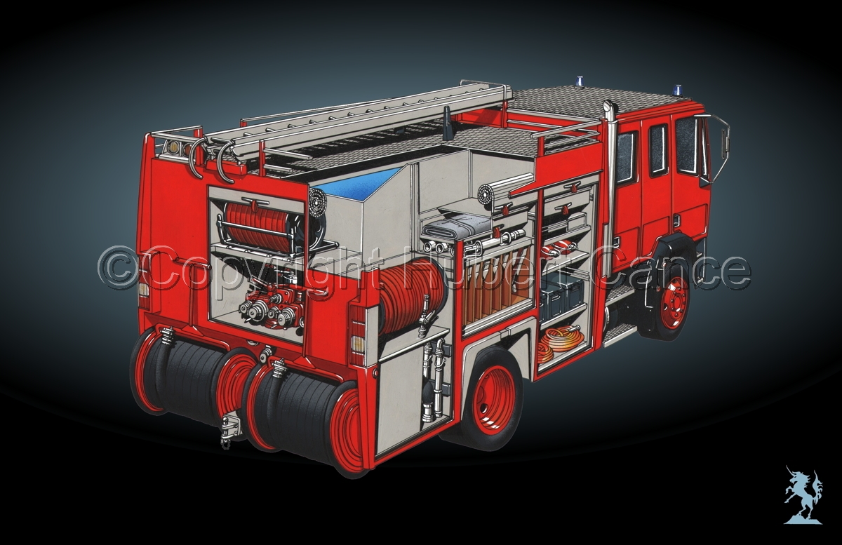 Fire Truck Cutaway #4 (large view)