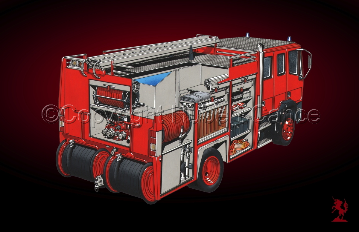 Fire Truck Cutaway #5 (large view)