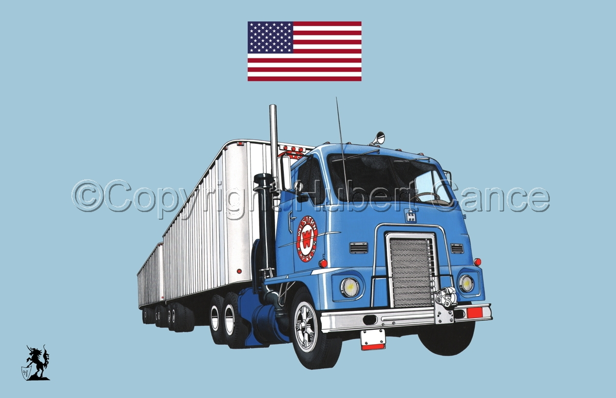 International IHC DCOF-405 Toll Road Tractor (1959) (Flag #1.2) (large view)