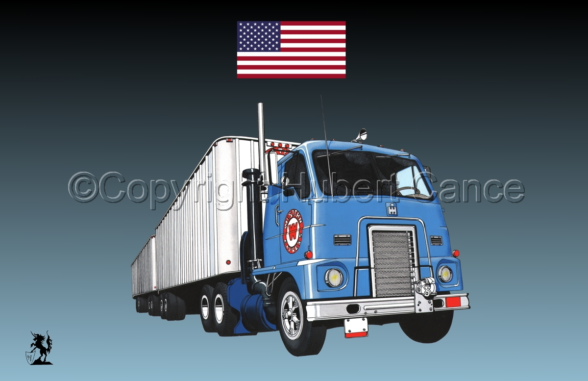 International IHC DCOF-405 Toll Road Tractor (1959) (Flag #1.3) (large view)