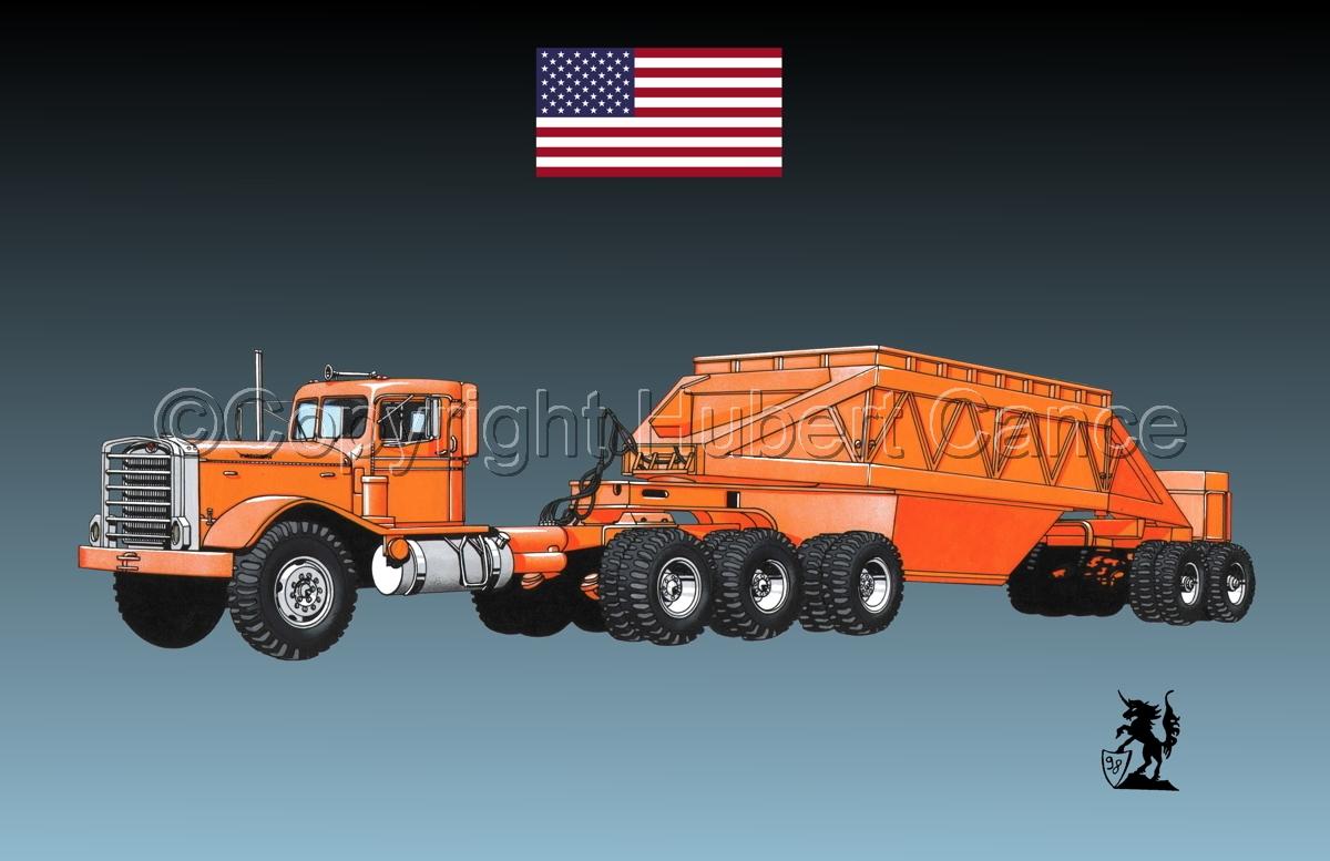 Kenworth Tractor & Dump Trailer (Flag #1.3) (large view)