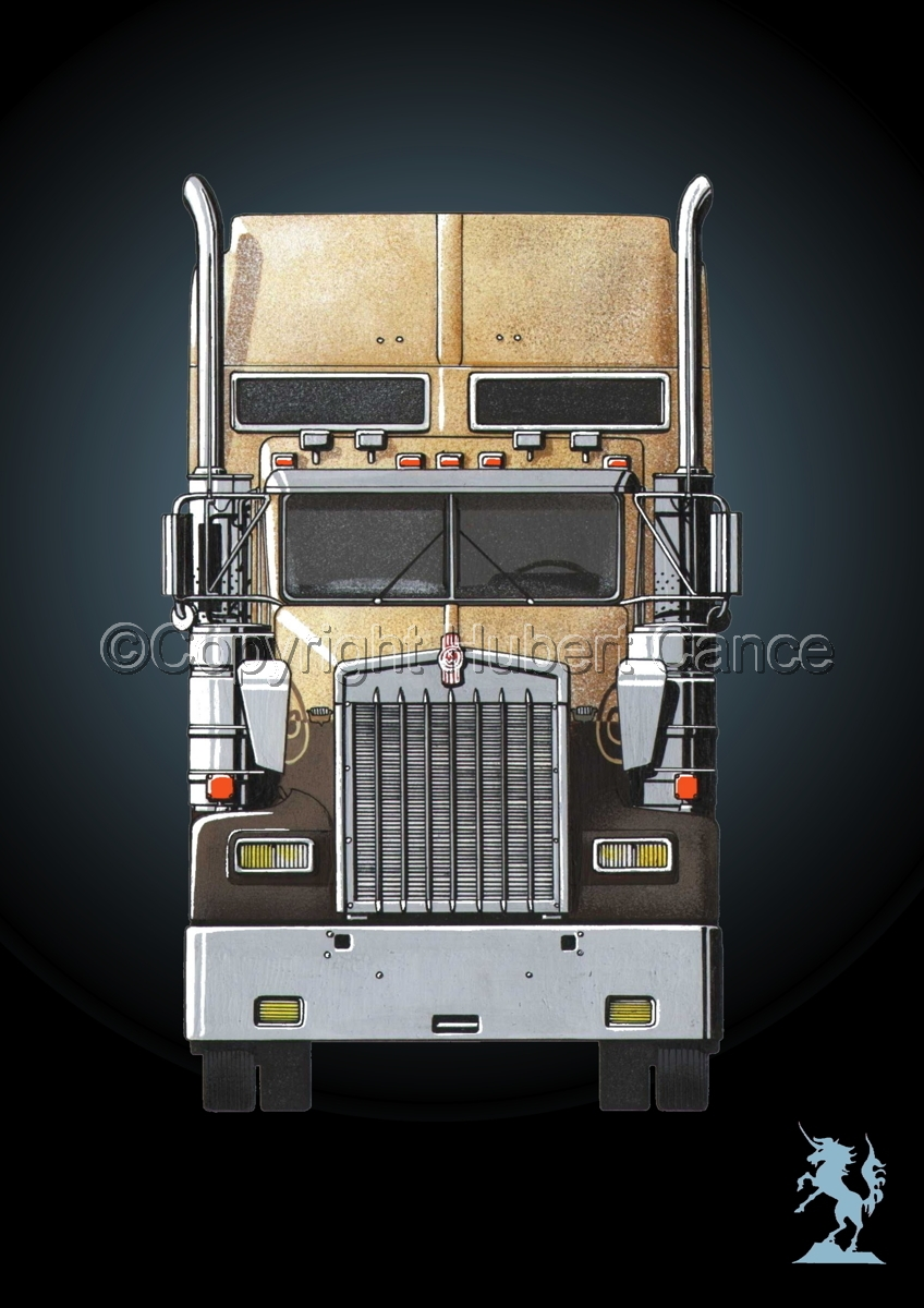 Kenworth W900L (Front View) #4 (large view)