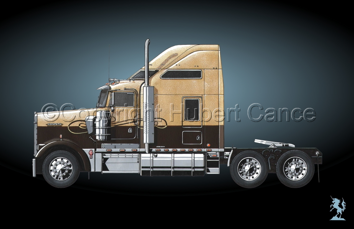 Kenworth W900L (Side View) #4 (large view)