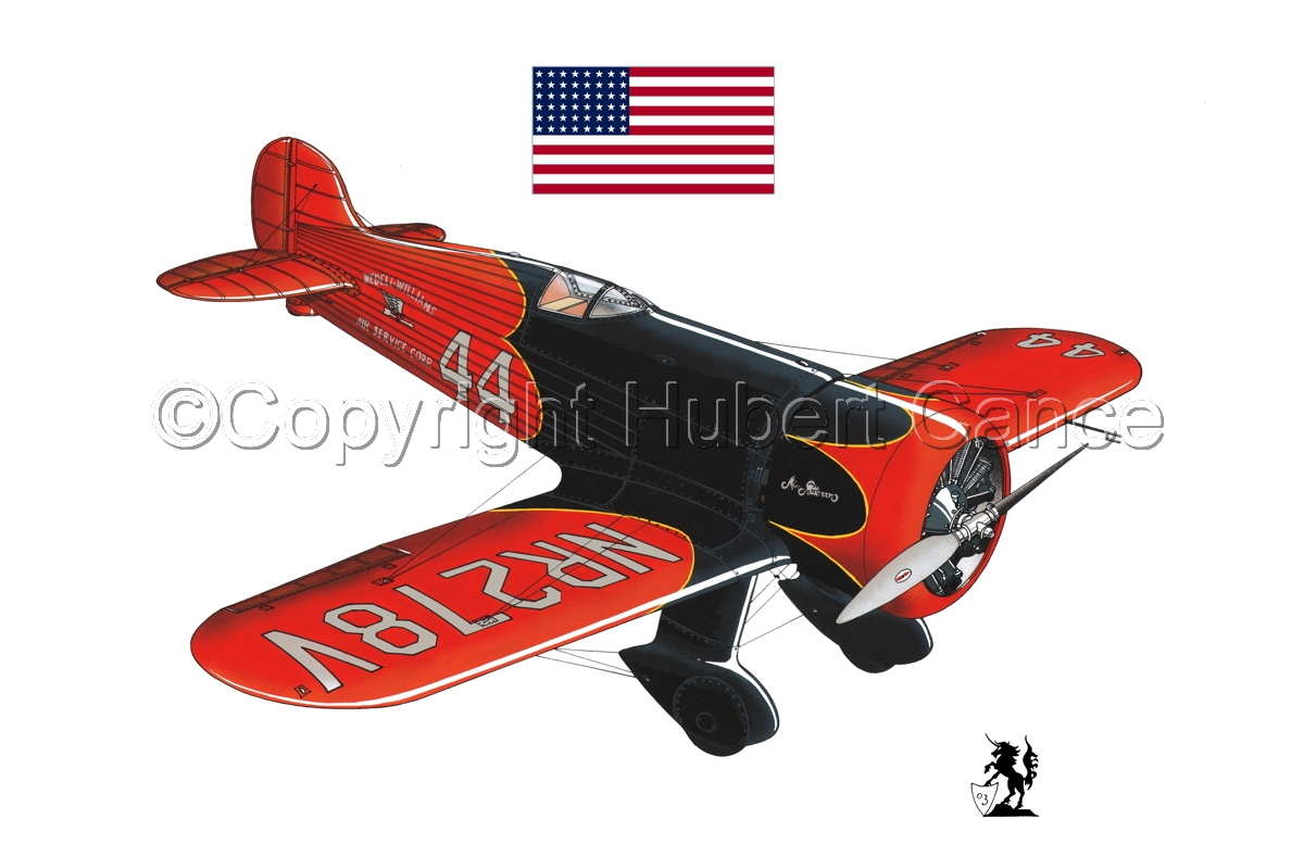 Wedell Williams R44 Racer (Flag #1.1) (large view)