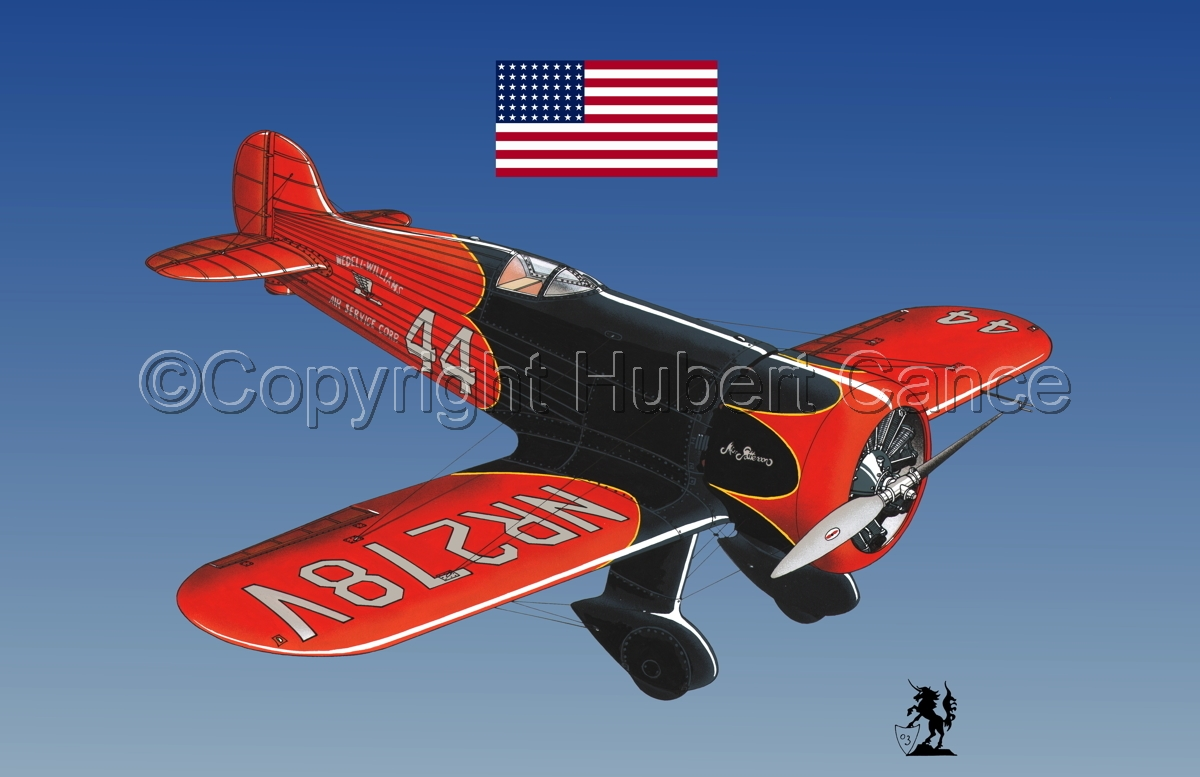 Wedell Williams R44 Racer (Flag #1.3) (large view)