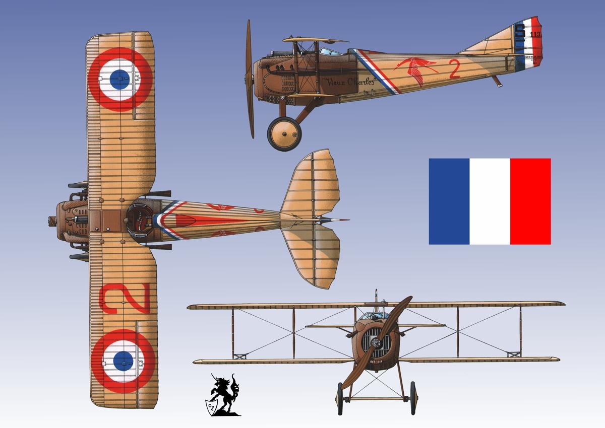"""SPAD VII """"Guynemer"""" (Flag #1.3) (large view)"""
