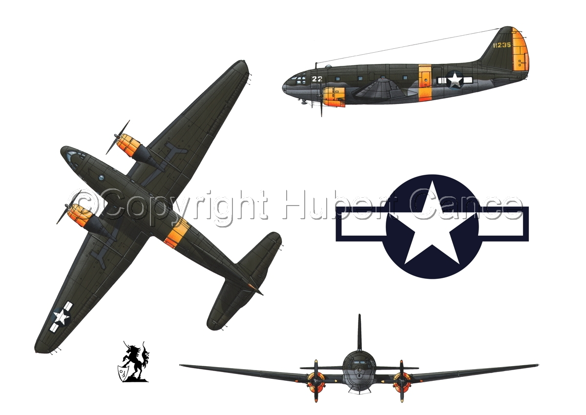 """Curtiss C-46A-15 CU """"Commando"""" (Roundel #1.1) (large view)"""