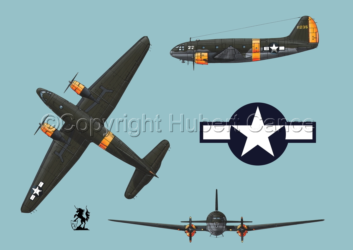 "Curtiss C-46A-15 CU ""Commando"" (Roundel #1.2) (large view)"