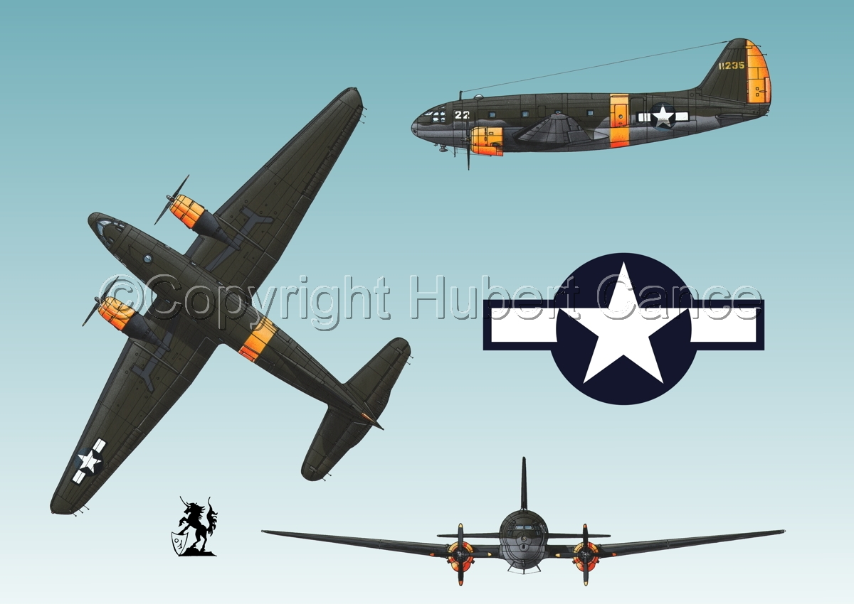 "Curtiss C-46A-15 CU ""Commando"" (Roundel #1.3) (large view)"
