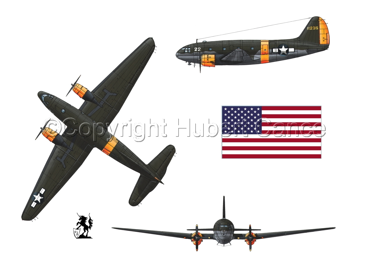 "Curtiss C-46A-15 CU ""Commando"" (Flag #1.1) (large view)"