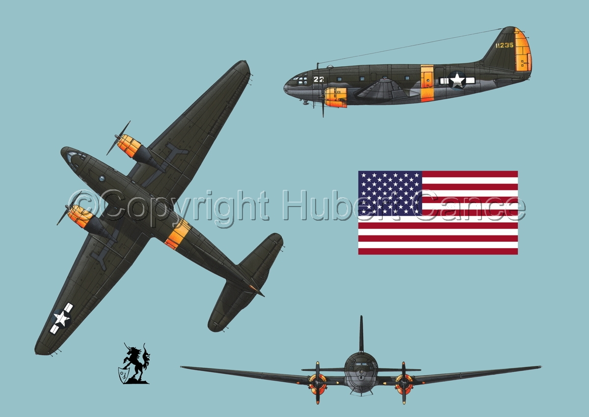 "Curtiss C-46A-15 CU ""Commando"" (Flag #1.2) (large view)"