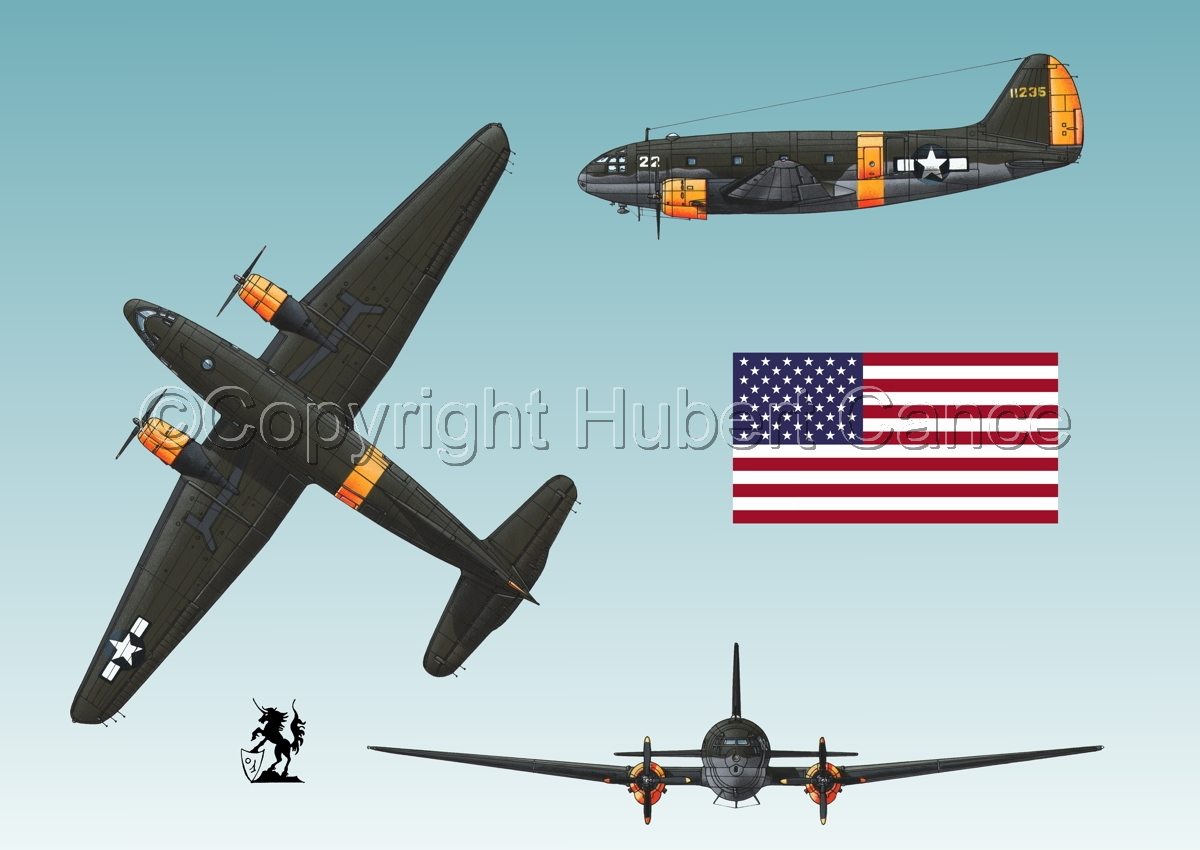 "Curtiss C-46A-15 CU ""Commando"" (Flag #1.3) (large view)"