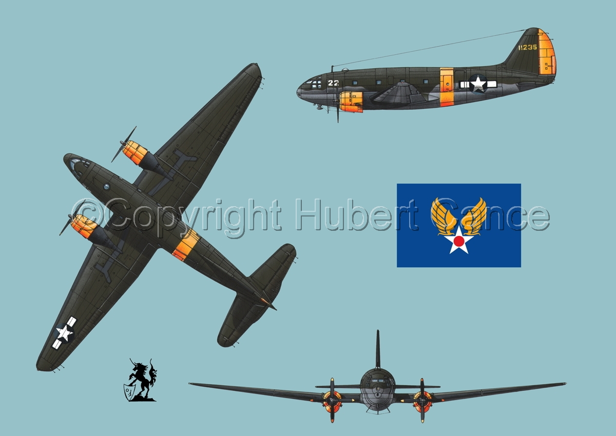 "Curtiss C-46A-15 CU ""Commando"" (Flag #2.2) (large view)"