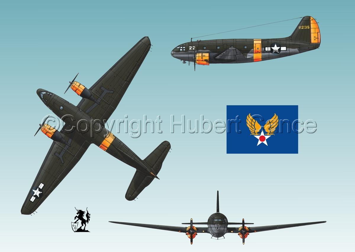 "Curtiss C-46A-15 CU ""Commando"" (Flag #2.3) (large view)"