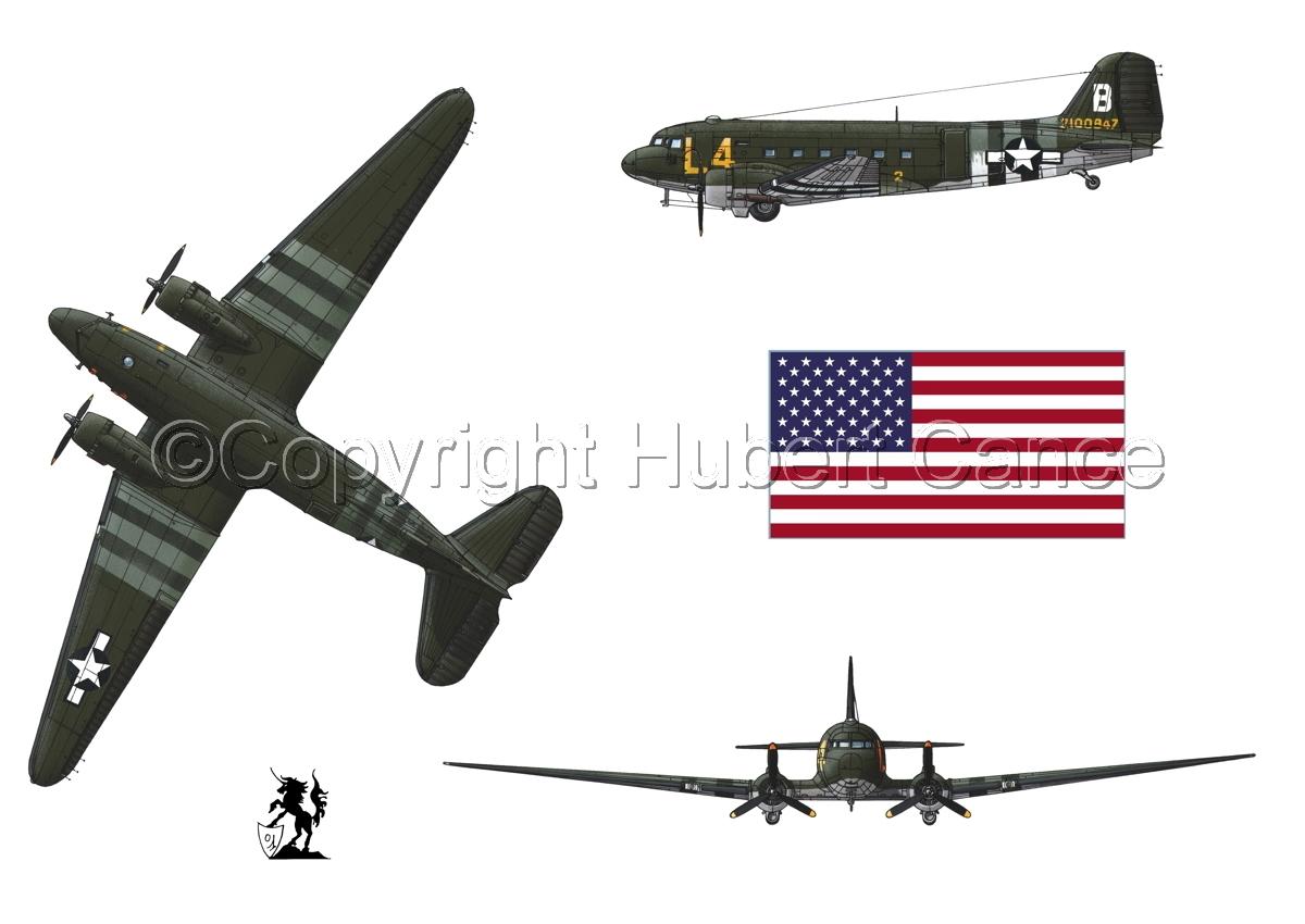 """Douglas C-47 """"Skytrain"""" (Flag #1.1) (large view)"""
