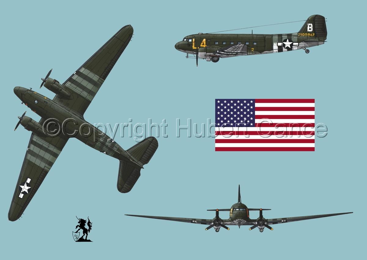 """Douglas C-47 """"Skytrain"""" (Flag #1.2) (large view)"""