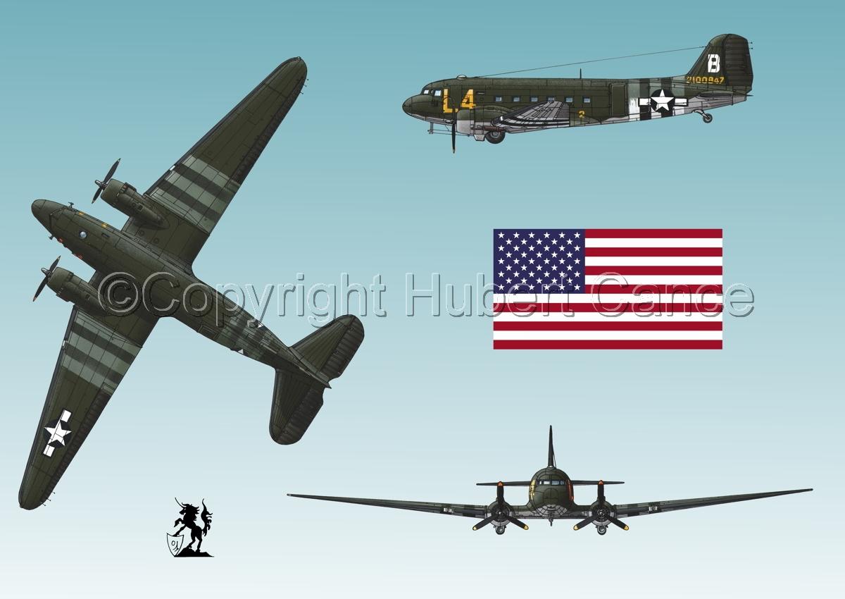 """Douglas C-47 """"Skytrain"""" (Flag #1.3) (large view)"""