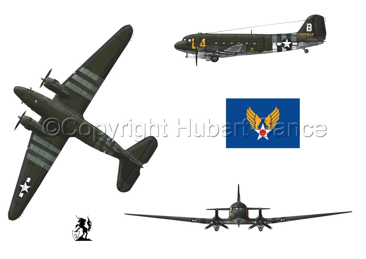 """Douglas C-47 """"Skytrain"""" (Flag #2.1) (large view)"""