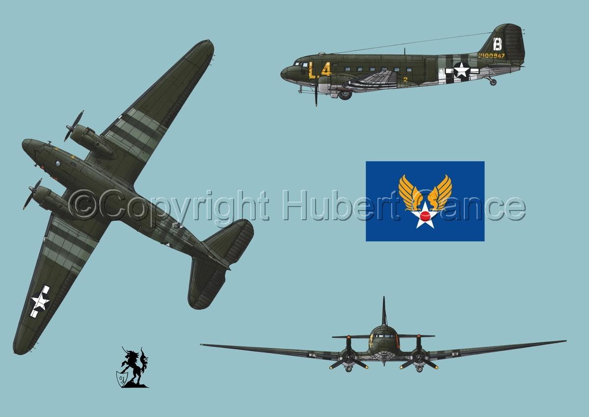 """Douglas C-47 """"Skytrain"""" (Flag #2.2) (large view)"""