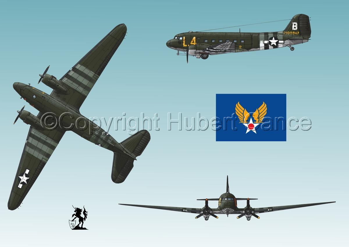 """Douglas C-47 """"Skytrain"""" (Flag #2.3) (large view)"""