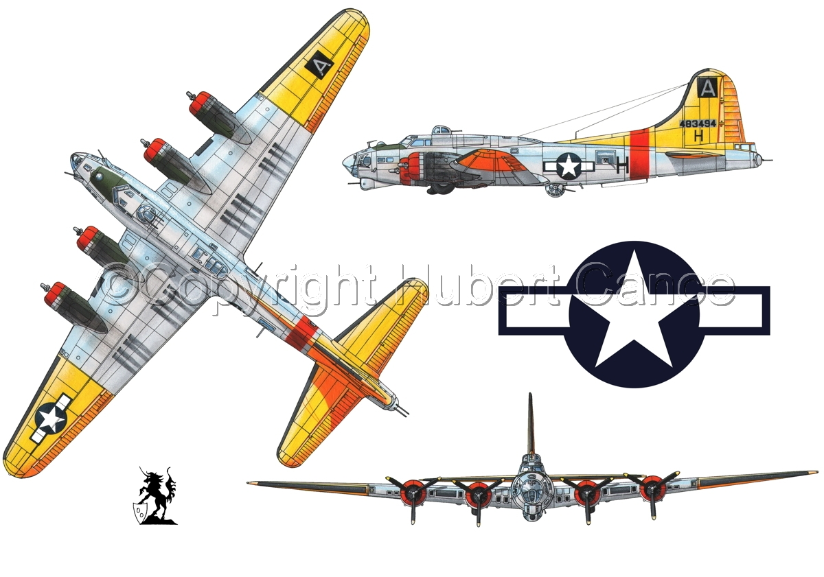 """Boeing B-17G-85-DL """"Flying Fortress"""" (Roundel #1.1) (large view)"""