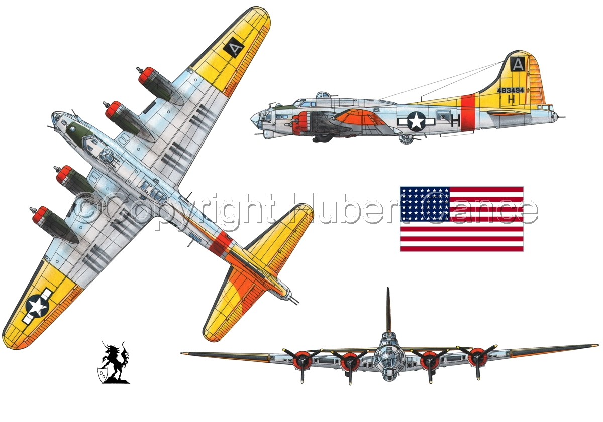 """Boeing B-17G-85-DL """"Flying Fortress"""" (Flag #1.1) (large view)"""