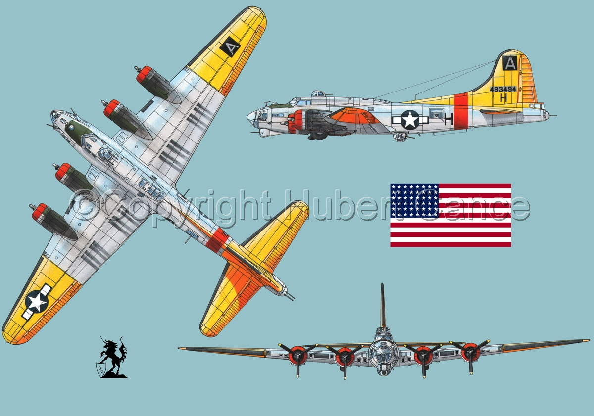 "Boeing B-17G-85-DL ""Flying Fortress"" (Flag #1.2) (large view)"
