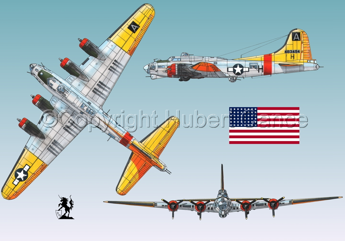 "Boeing B-17G-85-DL ""Flying Fortress"" (Flag #1.3) (large view)"