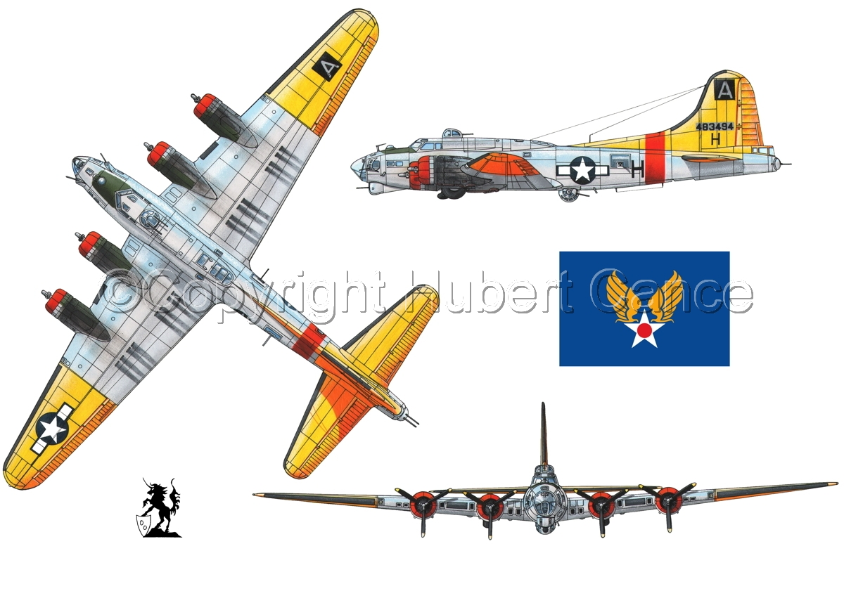 """Boeing B-17G-85-DL """"Flying Fortress"""" (Flag #2.1) (large view)"""