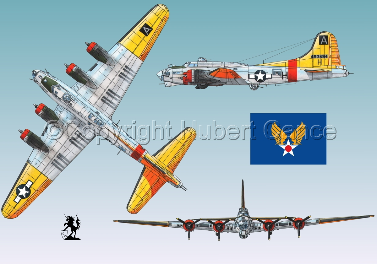 """Boeing B-17G-85-DL """"Flying Fortress"""" (Flag #2.3) (large view)"""