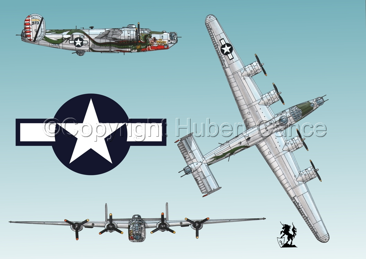 "Consolidated B-24J-190 ""Liberator"" (Roundel #1.3) (large view)"