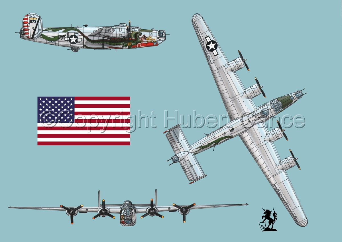 "Consolidated B-24J-190 ""Liberator"" (Flag #1.2) (large view)"