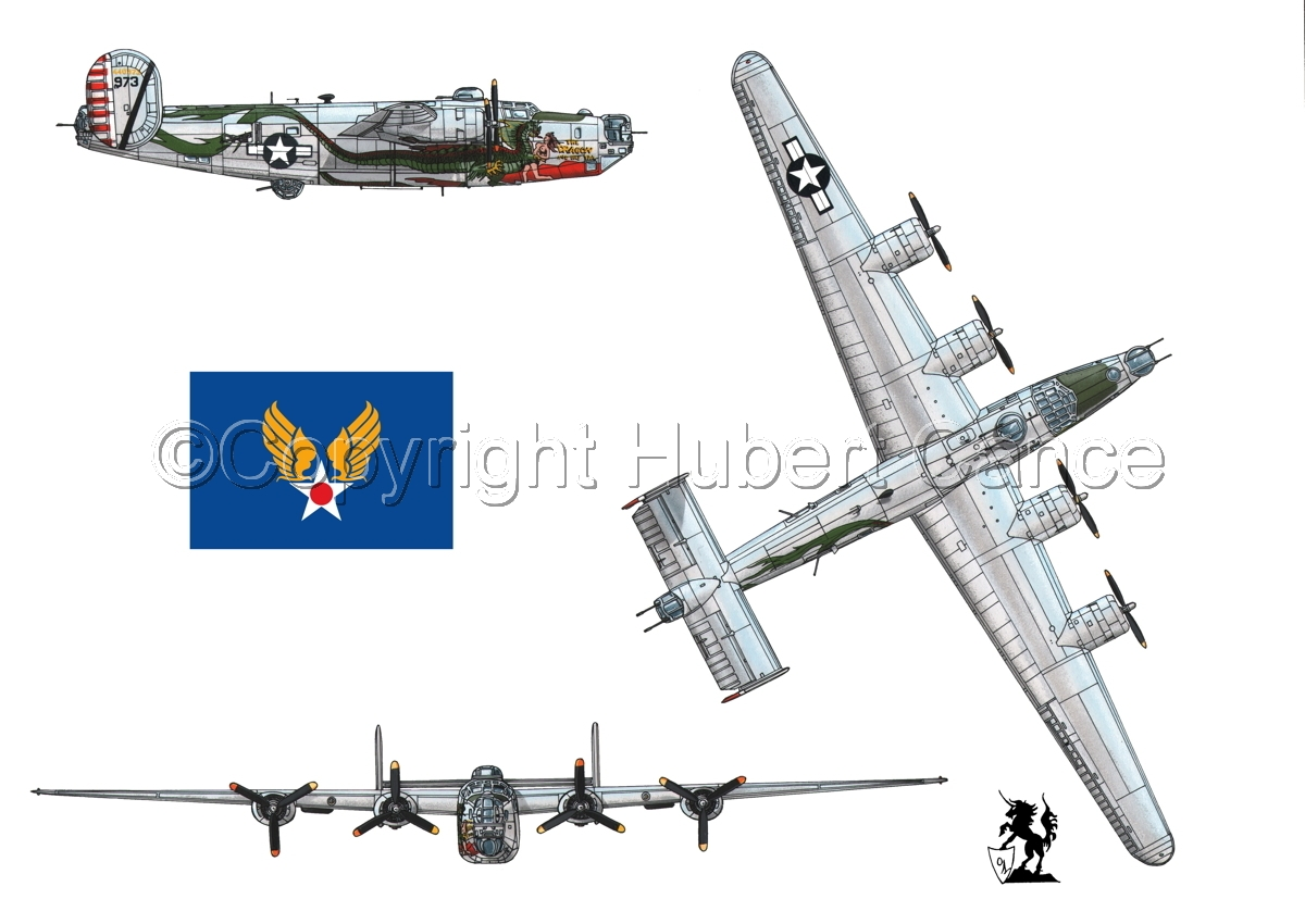 "Consolidated B-24J-190 ""Liberator"" (Flag #2.1) (large view)"