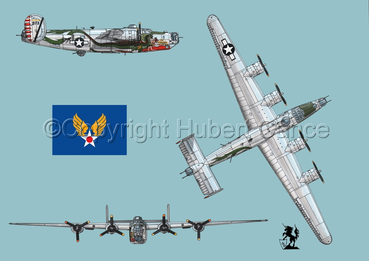 "Consolidated B-24J-190 ""Liberator"" (Flag #2.2) (large view)"
