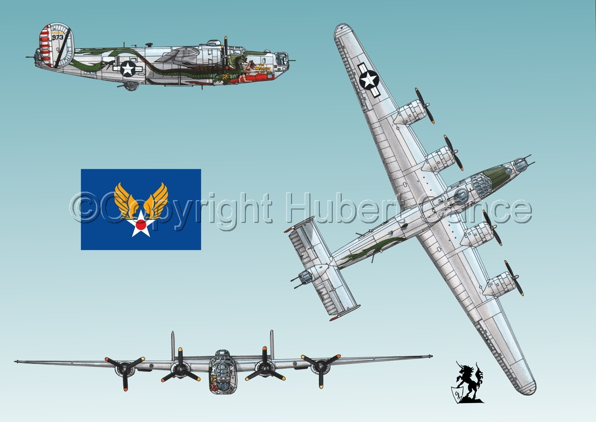 "Consolidated B-24J-190 ""Liberator"" (Flag #2.3) (large view)"