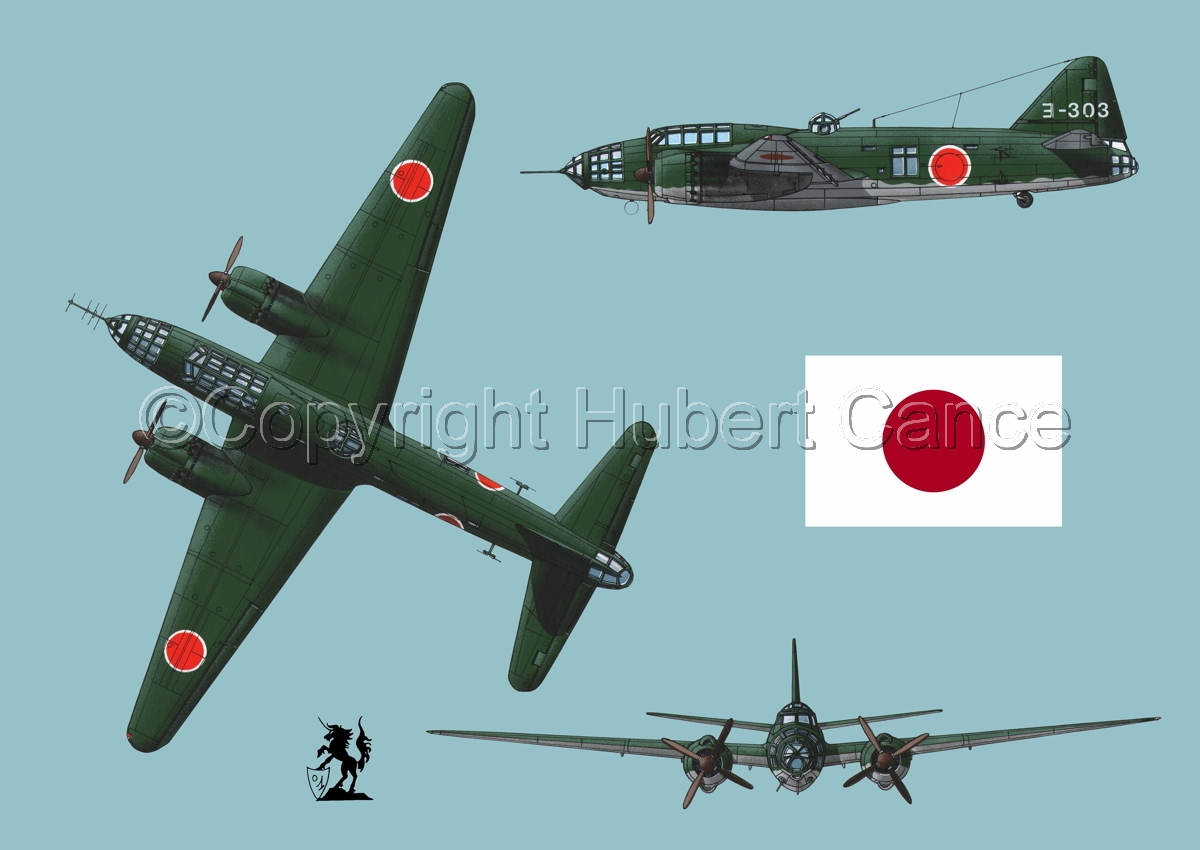 "Mitsubishi G4M3 ""Betty"" (Flag #1.2) (large view)"