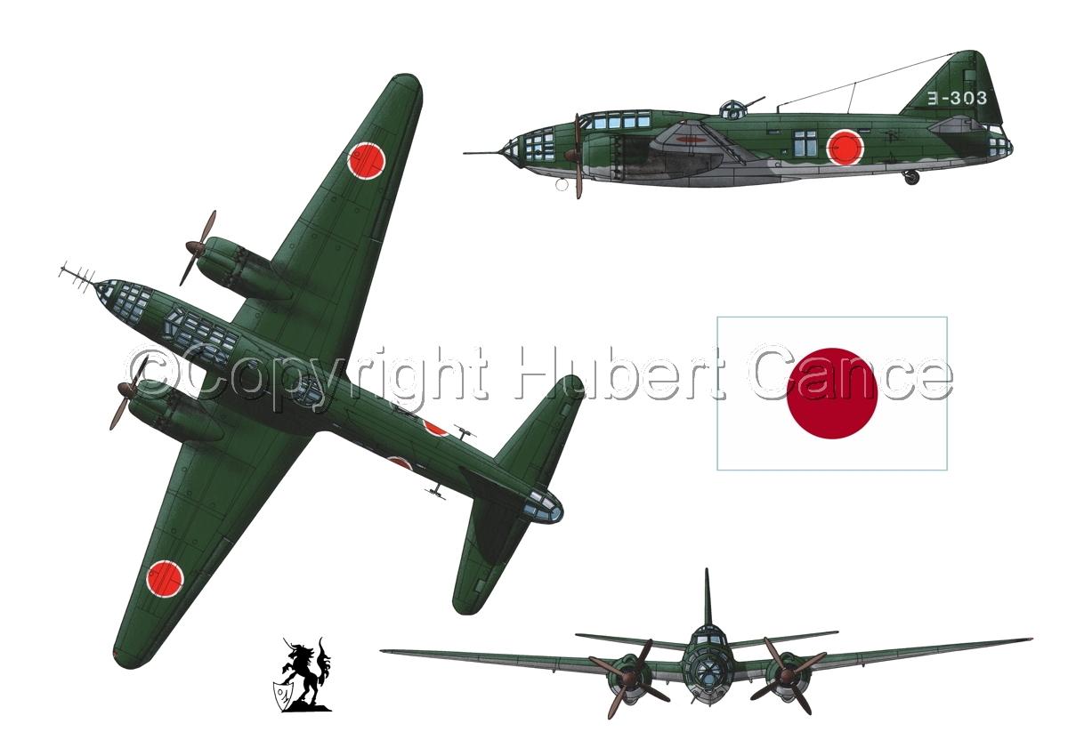 "Mitsubishi G4M3 ""Betty"" (Flag #1.1) (large view)"