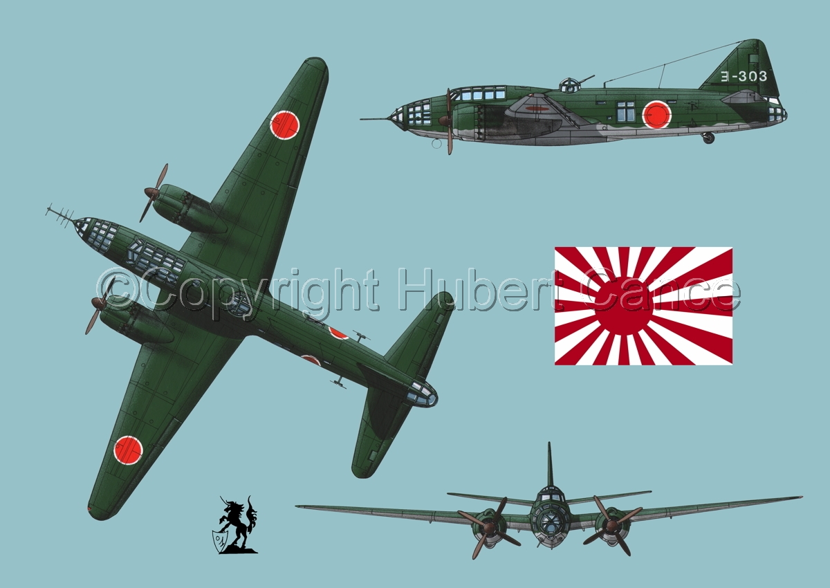 "Mitsubishi G4M3 ""Betty"" (Flag #2.2) (large view)"