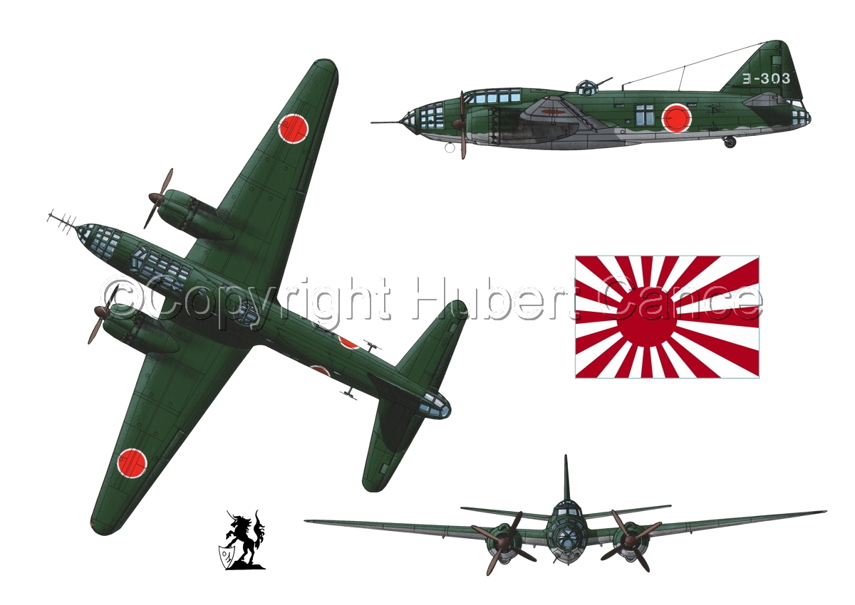 "Mitsubishi G4M3 ""Betty"" (Flag #2.1) (large view)"