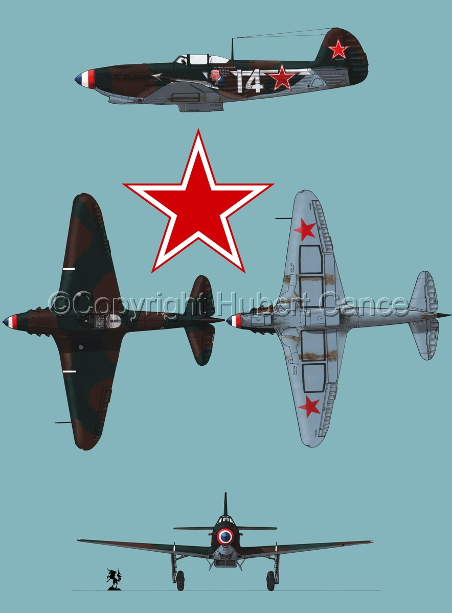 """Yakovlev Yak-9D"" 4-Views (Roundel  #1.2) (large view)"