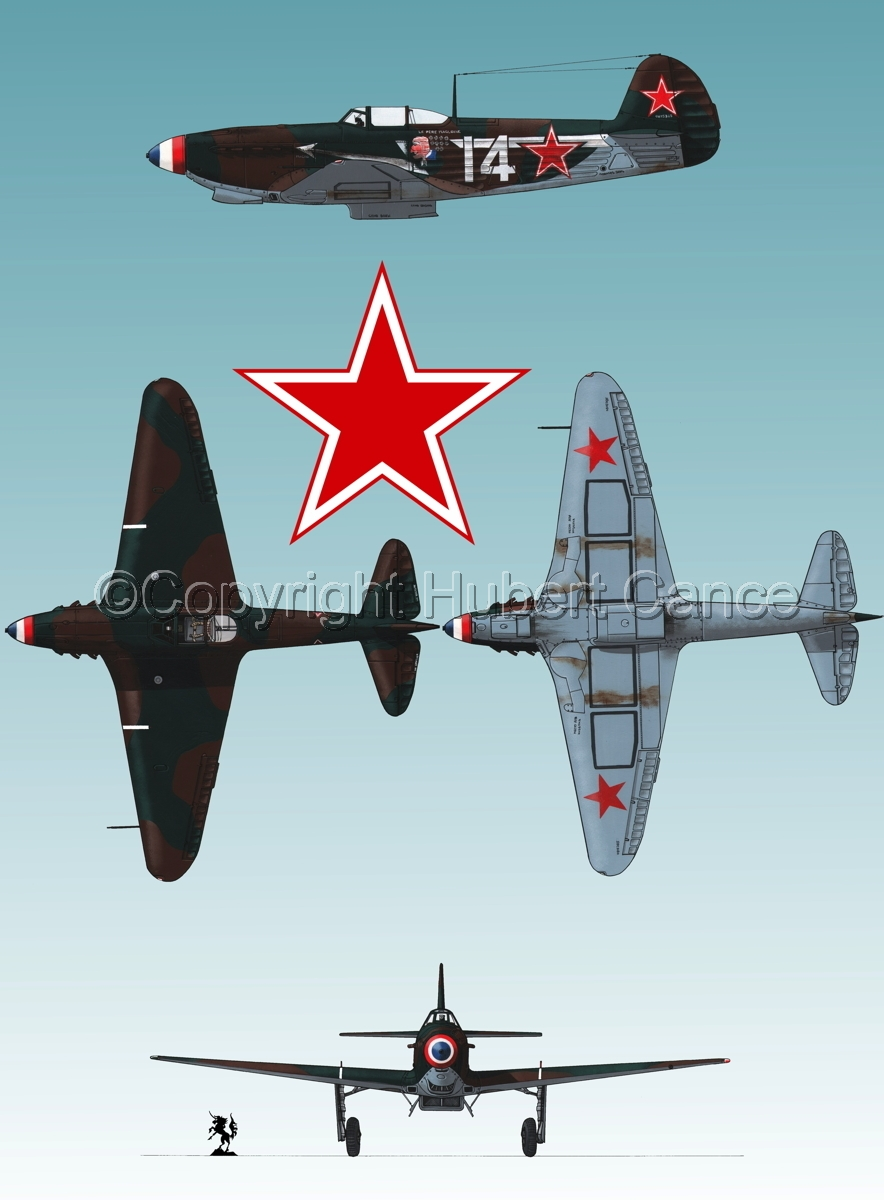 """Yakovlev Yak-9D"" 4-Views (Roundel  #1.3) (large view)"