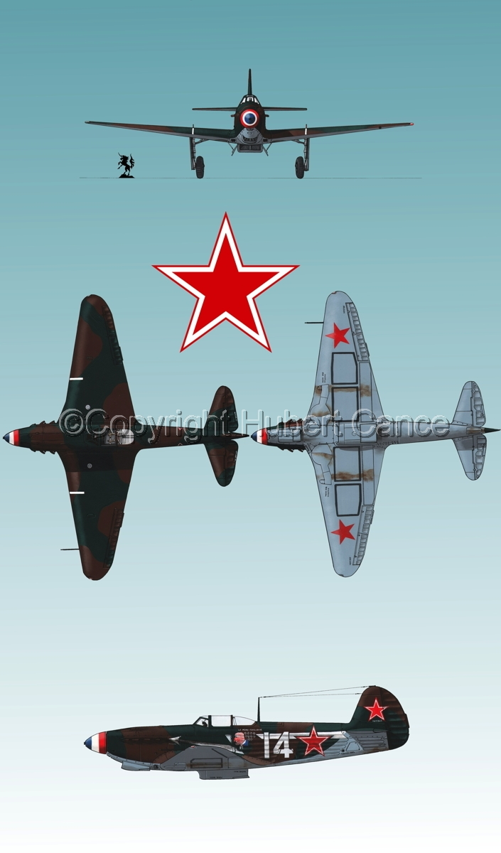 """Yakovlev Yak-9D"" 4-Views (Roundel  #2.3) (large view)"