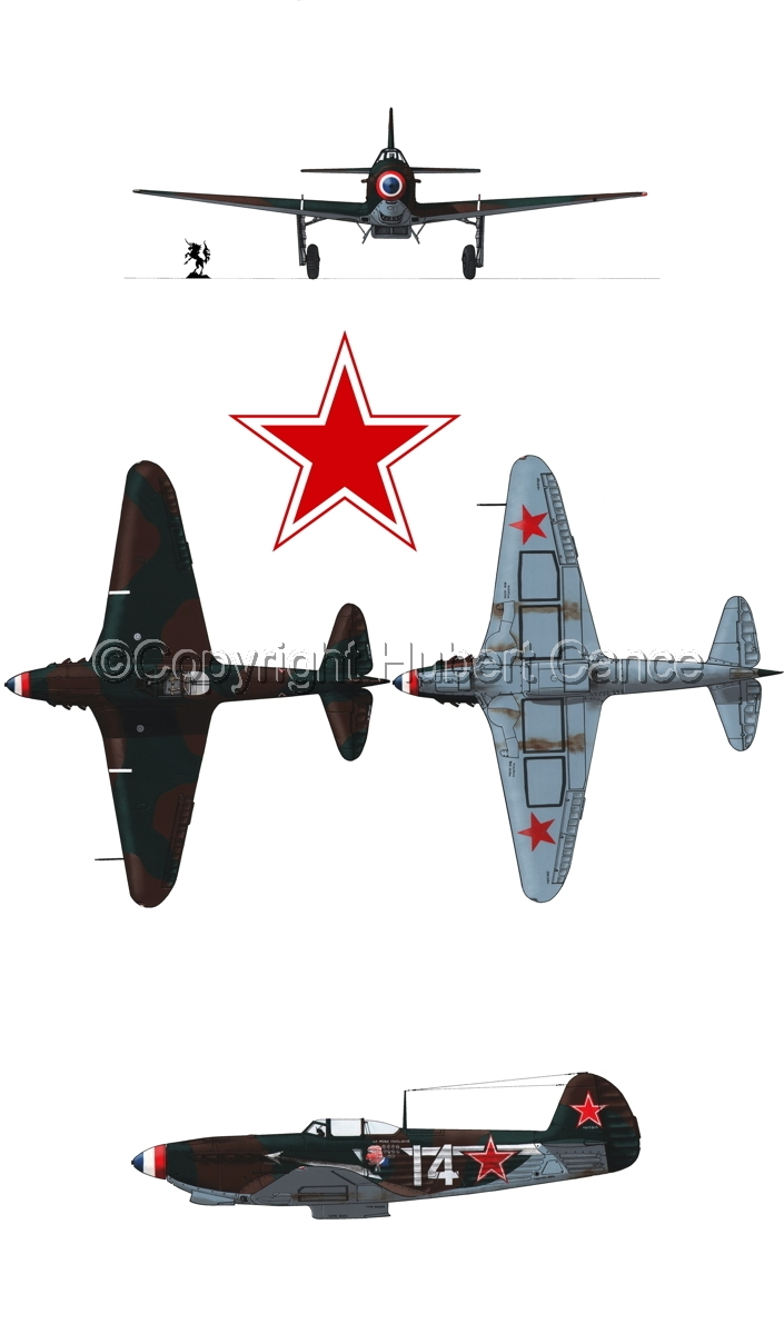 """Yakovlev Yak-9D"" 4-Views (Roundel  #2.1) (large view)"